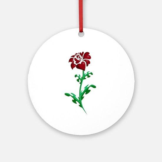 Autism Heart Rose Ornament (Round)