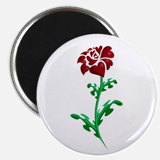 "Autism Heart Rose 2.25"" Magnet (10 pack)"