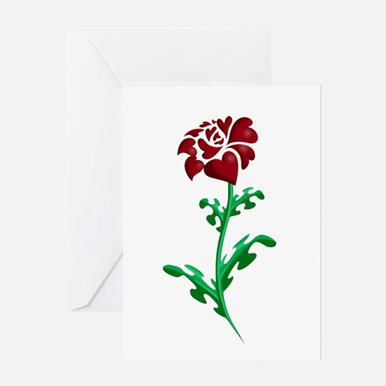 Autism Heart Rose Greeting Card