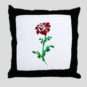 Autism Heart Rose Throw Pillow