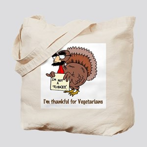 Thankful for Vegetarians Tote Bag