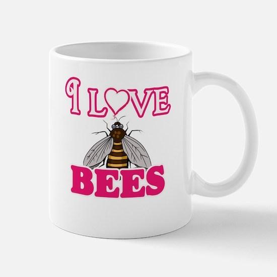 I Love Bees Mugs