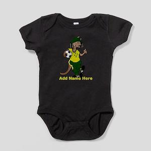 Personalized Australia Soccer Kangaroo Baby Bodysu