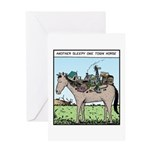 One town Horse Greeting Card