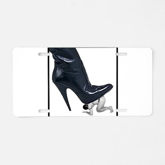 Giant Boot Stomp Aluminum License Plate
