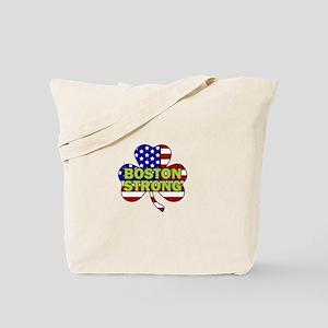 Boston Strong Shamrock Flag Tote Bag