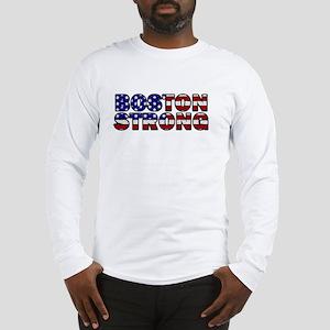 Boston Strong Flag Long Sleeve T-Shirt