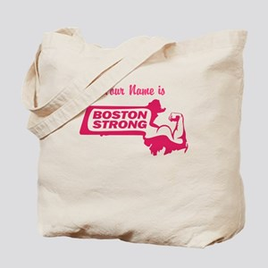 Boston Strong Bicep Pink - Personalized! Tote Bag
