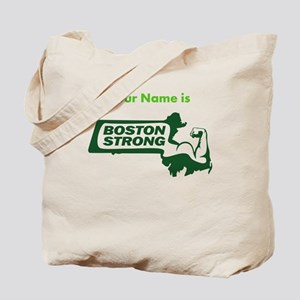 Boston Strong Bicep Green - Personalized Tote Bag