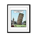 Tower of Pizza Framed Panel Print