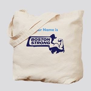 Boston Strong Bicep Blue - Personalized! Tote Bag