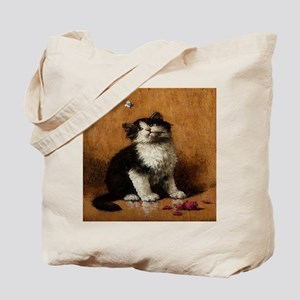 Cat With Butterfly Tote Bag