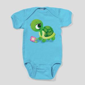 Toshi the Turtle Baby Bodysuit