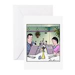 Menu Womenu Greeting Cards (Pk of 10)