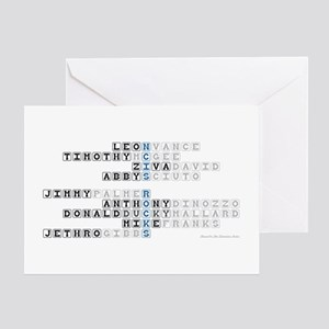 NCIS CROSSWORD PUZZLE Greeting Card