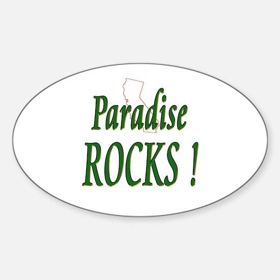 Paradise Rocks ! Oval Decal