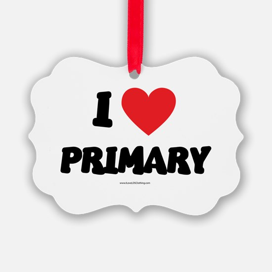 I Love Primary - LDS Clothing - LDS T-Shirts Ornam