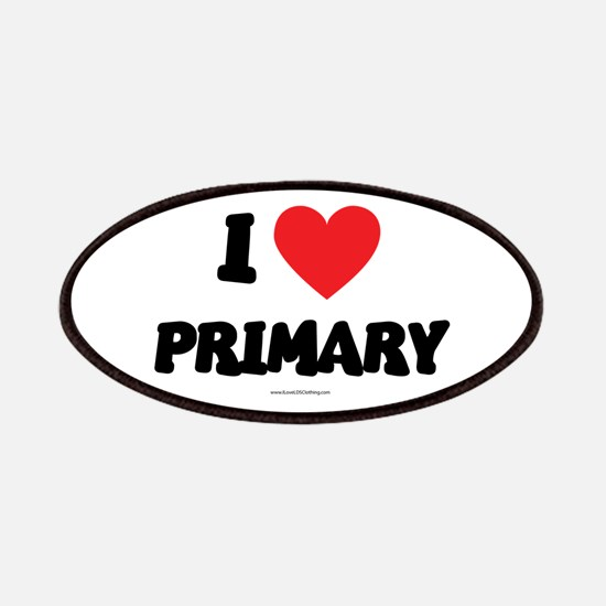 I Love Primary - LDS Clothing - LDS T-Shirts Patch