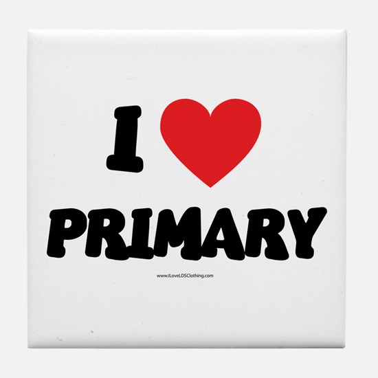 I Love Primary - LDS Clothing - LDS T-Shirts Tile