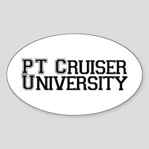 PT Cruiser University Oval Sticker