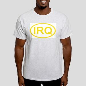 Iraq - IRQ Oval Ash Grey T-Shirt