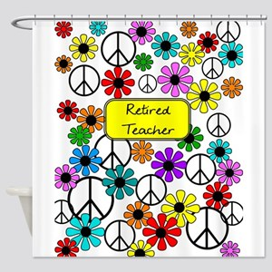 retired teacher iphone case yellow Shower Curtain