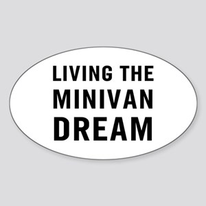 Living Minivan Sticker (Oval)