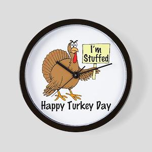 Happy Turkey Day (I'm Stuffed) Wall Clock