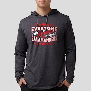 LOVES SALAMANDERS TEE SHIRT Mens Hooded Shirt