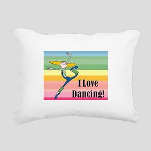 I love dancing! Rectangular Canvas Pillow