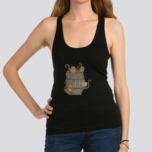 barrel of monkeys.png Racerback Tank Top