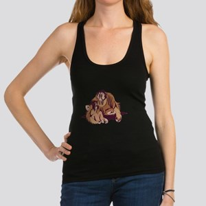 daddy and baby orangatang.png Racerback Tank Top