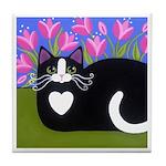 Black Tuxedo CAT ART Tile