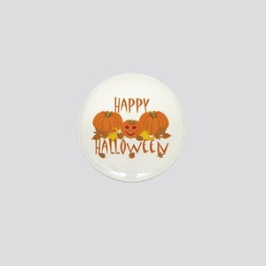 Happy Halloween Pumpkins Mini Button