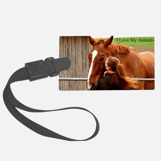 Cute Race dogs Luggage Tag
