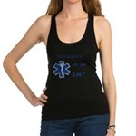 proud emt girlfrien... Racerback Tank Top