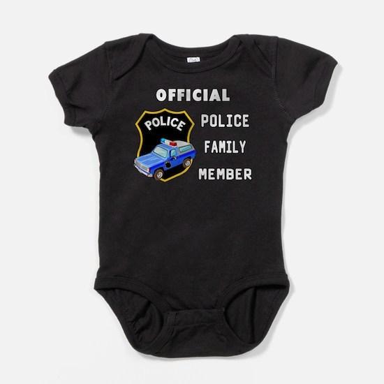 Police Family Member Baby Bodysuit