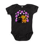 Kitty Cat Love Baby Bodysuit