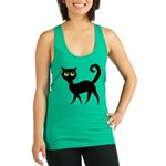 Cat With Green Eyes Racerback Tank Top