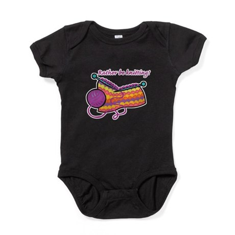 rather be knitting.png Baby Bodysuit