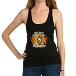 Firefighter Skull and Flames Racerback Tank Top