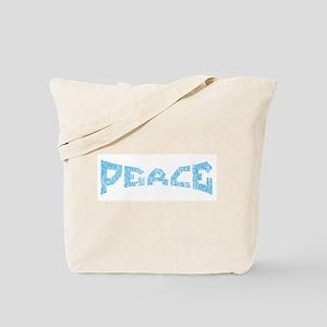 Peace in Blue Tote Bag