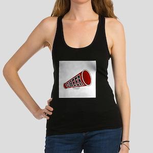 red cheerleader blullhorn copy Racerback Tank