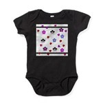 Hearts and Flowers Baby Bodysuit