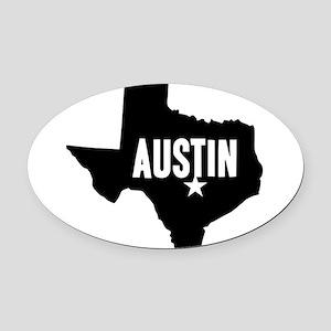 Austin, TX Oval Car Magnet