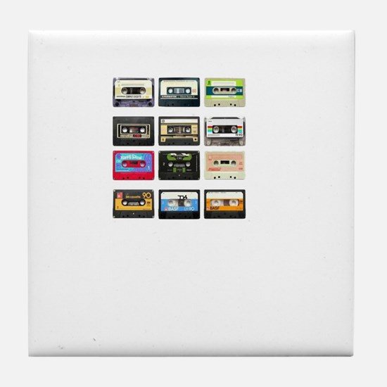 mix tape from the 80s Tile Coaster
