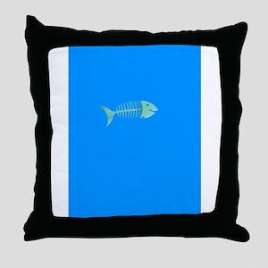 fancy fish bones Throw Pillow