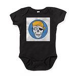 pirate skull colored copy.jpg Baby Bodysuit