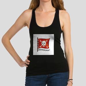 pirate flag red.jpg Racerback Tank Top