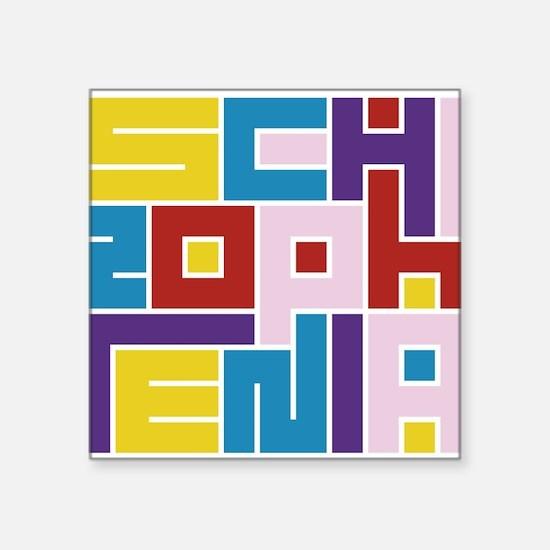 """Funny Maze Square Sticker 3"""" x 3"""""""